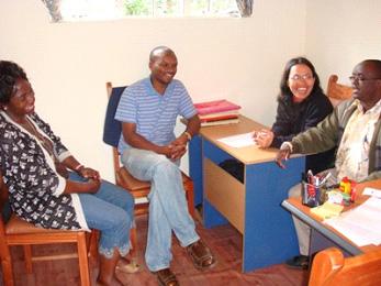 CTF Kenya: Alice Sarry, Gideon Karuri, Theresia Sinaga & Fr. John Mosoti