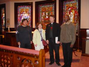The SOS DRS MCP Appeal Team in Scranton (L to R): Eric, D'Ann, Fr. Scott, Fr. Francis