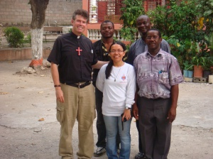 Back at St. Jerome Parish in Petite Riviere with our host, Fr. Christoph, and another priest from the Diocese of Gonaives, Fr. Luckson.