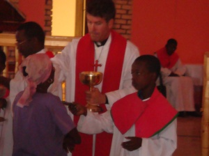 Celebrating  mass on the Feast of the Apostles - Sts. Jude and Simon